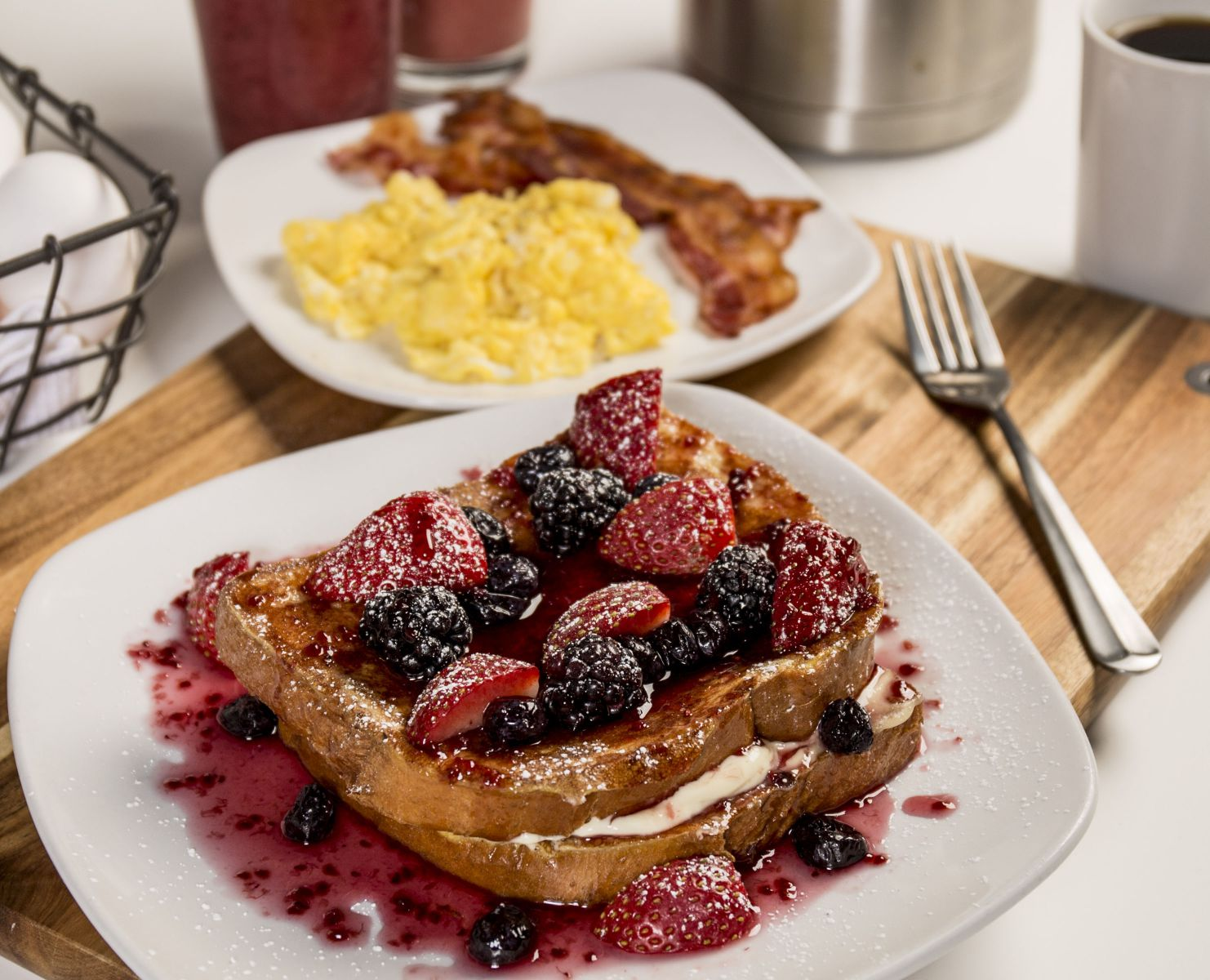 suffed very berry french toast combo. Interior Design Ideas. Home Design Ideas